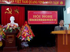 Câu lạc bộ Lâm nghiệp Thanh Hóa triển khai công tác phổ biến giáo dục phát luật